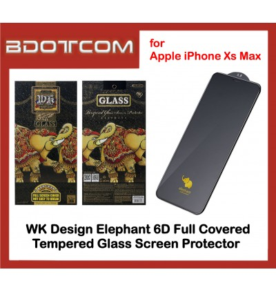 WK Design Elephant 6D Full Covered Tempered Glass Screen Protector for Apple iPhone 7 / 7 Plus / X / XR / Xs Max (Black)
