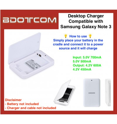 Portable Desktop Battery Charger compatible with Samsung Galaxy Note 3