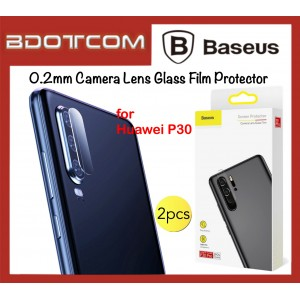 Baseus 2 Pcs 0.2mm Camera Lens Glass Film Protector for Huawei P30 / P30 Pro