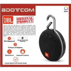 Original JBL Clip 3 Portable Waterproof Bluetooth Speaker