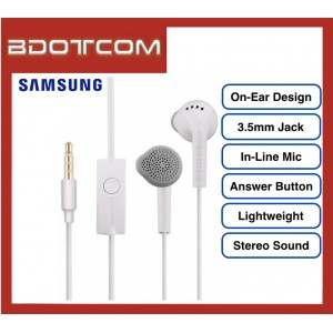 Samsung On-Ear Stereo Handsfree with Built In Microphone for Samsung Galaxy Tab S4, Tab S5E, Note 9, Note 8, Note FE, S10, S10+, S10E, S9, S9+