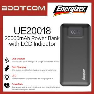 Energizer UE20018 20000mAh Dual USB Port Power Bank with LCD Indicator