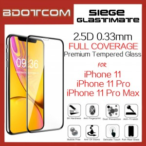 Siege Glastimate 2.5D Premium Full Coverage Tempered Glass for iPhone 11 / iPhone 11 Pro / iPhone 11 Pro Max