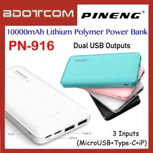 Pineng PN-916 10000mAh Dual USB Ports + 3 Input Lithium Polymer Power Bank