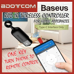 Baseus R02 Universal SmartPhone IR Wireless Controller Type-C One-Key Remote Control for Home Appliances