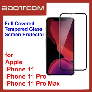 Full Covered Tempered Glass Screen Protector for iPhone 11 / iPhone 11 Pro / iPhone 11 Pro Max (Black)