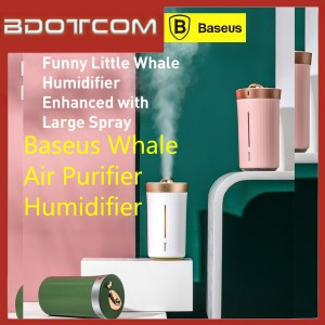 Baseus Whale 420ml Air Purifier Humidifier with Strengthened Moisturizing Effect For In Car & Home / Indoor Used