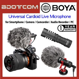 BOYA BY-MM1 Universal Cardioid Live Microphone for Smartphone /  Camera / Camcorder / Audio Recorder / PC