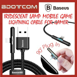 Baseus Iridescent Lamp Mobile Game 2.4A Quick Charge Lightning Cable for iOS Device