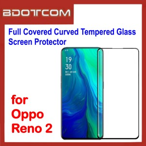 Full Covered Curved Tempered Glass Screen Protector for Oppo Reno 2 (Black)