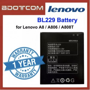 Replacement Battery BL229 for Lenovo A8 / A806 / A808T