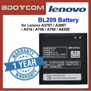 Replacement Battery Lenovo BL209 for Lenovo A378T / A398T / A516 / A706 / A760 / A820E