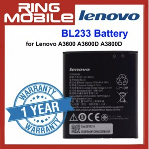 Replacement Battery BL233 for Lenovo A3600 A3600D A3800D