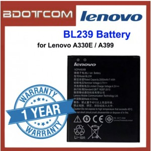 Replacement Battery BL239 for Lenovo A330E / A399