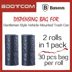 Baseus 2 Roll Dispensing Bag / Plastic Bag for Gentleman Style Vehicle-Mounted Trash Can Mini Car Rubbish Bin