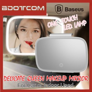 Baseus Delicate Queen Car Touch-Up Makeup Car Mirror With One Touch LED Lamp