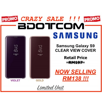 (CRAZY SALES) Original Samsung Clear View Standing Cover Case for Samsung Galaxy S9