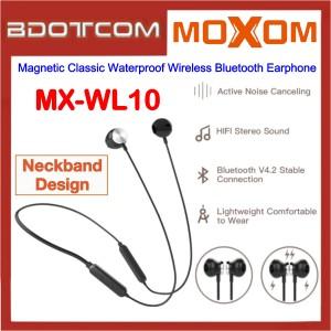 Moxom MX-WL10 Magnetic Classic Waterproof Wireless Bluetooth Earphone for Samsung / Apple / Xiaomi / Huawei / Oppo / Vivo