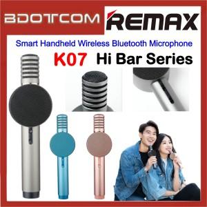 Remax Hi Bar Series K07 Smart Handheld Wireless Bluetooth Microphone for Samsung / Apple / Xiaomi / Huawei / Oppo / Vivo