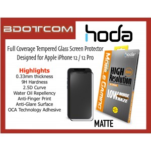 Original HODA 0.33mm 2.5D 9H Full Coverage Tempered Glass Screen Protector for Apple iPhone 12 / 12 Pro (MATTE)