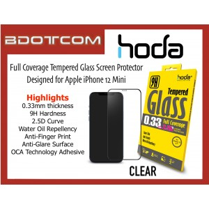Original HODA 0.33mm 2.5D 9H Full Coverage Tempered Glass Screen Protector for Apple iPhone 12 Mini (CLEAR)