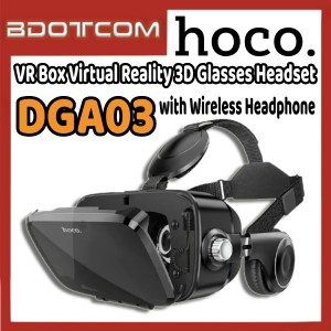 [Ready Stock] Hoco DGA03 VR Box Virtual Reality 3D Glasses Headset with Wireless Headphone for Samsung / Xiaomi / Huawei / Oppo / Vivo / Realme / OnePlus