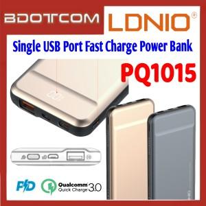 LDNIO PQ1015 18W Type-C PD + QC3.0 Single USB Port 10000mAh Fast Charge Power Bank for Samsung / Apple / Xiaomi / Huawei / Oppo / Vivo / Realme / OnePlus