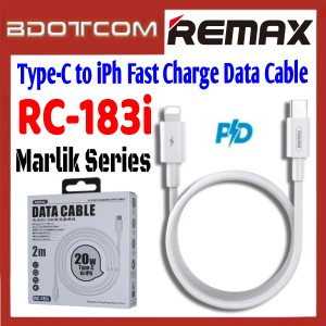 Remax RC-183i Marlik Series PD 20W Type-C to Lightning 2M Fast Charge Data Cable for  Apple iPhone 11 Pro Max / Xs / XR, iPhone 8 / 8 Plus, iPhone 7 / 7 Plus, iPad Pro 12.9, iPad Air 3 10.5, iPod Touch 6th Generation