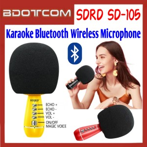 [ Ready Stock ] SDRD SD-105 Handheld Karaoke Bluetooth Wireless Microphone for KTV Karaoke Live Streaming / Samsung / Apple / Xiaomi / Huawei / Oppo / Vivo / Realme / OnePlus