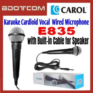 [ Ready Stock ] Carol E835 Karaoke Cardioid Dynamic Vocal  Wired Microphone for Live Streaming / Karaoke / Home Audio / Speech