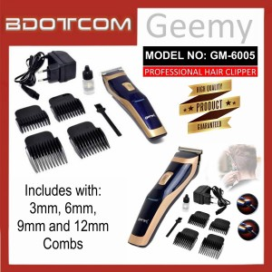 [READY STOCK] GEEMY GM-6005 Professional Rechargeable Cordless Hair Trimmer, Hair Clipper, Hair Shaver, Hair Groomer, Hair Cutter for Men, Women, Boy, Lady, Kid, Child, Senior Citizen and anyone else