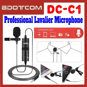 [ Ready Stock ] Candc DC-C1 Professional Lavalier Microphone for Live Streaming / Live Webcast / Samsung / Apple / Huawei / Xiaomi / Oppo / Vivo / Realme / OnePlus