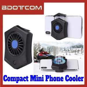 [ Ready Stock ] Compact Mini Phone Holder Fan Cooler for Samsung / Apple / Xiaomi / Huawei / Oppo / Vivo / Realme / OnePlus