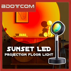[Ready Stock] Sunset Background LED Lamp Projection Floor Light