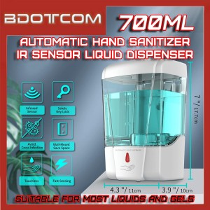[READY STOCK] Automatic Hand Sanitizer IR Sensor Touch-Free 700ml Liquid Dispenser with Wall-Mounted