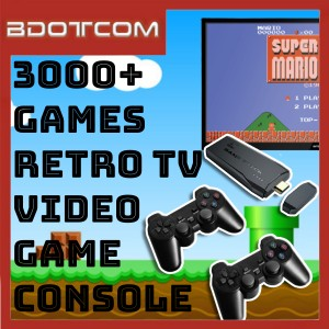 [READY STOCK] 3000+ Games / 32GB Retro TV Video Game Console with Dual 2.4G Wireless Controller Gamepad