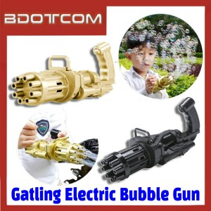 [ Ready Stock ] Gatling Electric Bubble Gun Machine Toy for Kids / Children / Outdoor / Indoor