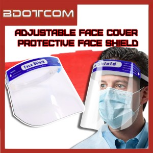 [READY STOCK] Transparent Full Face Cover Protective Adjustable Direct Splash Anti Spray Plastic Mask Face Shield