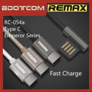 Original Remax RC-054a Emperor series Type-C Ergonomic L Shape Data Cable For Samsung / Huawei / Xiaomi / Oppo / Vivo / Realme