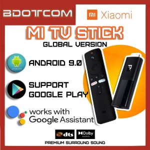 [Ready Stock] Xiaomi Mi TV Stick Global version Android 9.0 System with Google Assistant