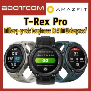 [Ready Stock] Amazfit T-Rex Pro Military-grade Toughness 10 ATM Waterproof GPS Outdoor Smart Watch