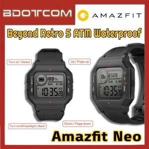[Ready Stock] Amazfit Neo Beyond Retro 5 ATM Waterproof Bluetooth Smart Watch