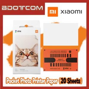 [Ready Stock] Xiaomi Self-Adhesive Pocket Photo Printer Paper (20 Sheets)