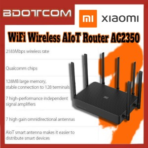[Ready Stock] Xiaomi AIoT Router AC2350 WiFi Wireless 2183Mbps 128MB Dual-Band Router Wifi Repeater With 7 High Gain Antennas Wider