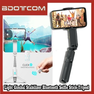 [Ready Stock] L09 Dimmable Fill Light Gimbal Stabilizer Bluetooth Selfie Stick Monopod Tripod for Samsung / Huawei / Xiaomi / Oppo / Vivo / Realme / OnePlus
