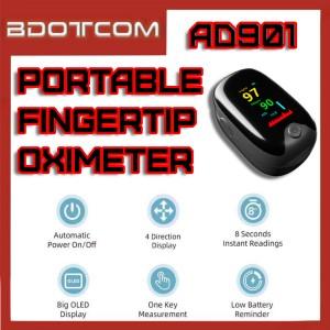 [Ready Stock] AD901 Mini Portable Finger Oximeter Fingertip PulseOximeter Medical Equipment With LED