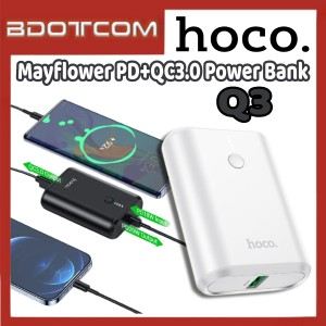 [Ready Stock] Hoco Q3 Mayflower PD+QC3.0 10000mAh Fast Charge Power Bank for Samsung / Xiaomi / Huawei / Oppo / Vivo / Realme / OnePlus