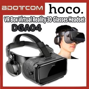 [Ready Stock] Hoco DGA04 VR Box Virtual Reality 3D Glasses Headset with Headphone for Samsung / Xiaomi / Huawei / Oppo / Vivo / Realme / OnePlus