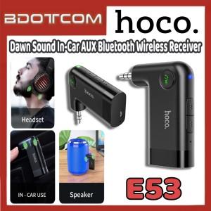 [Ready Stock] Hoco E53 Dawn Sound In-Car AUX Bluetooth Wireless Receiver for Samsung / Huawei / Xiaomi / Oppo / Vivo / Toyota / Honda / Mazda / Proton / Perodua, BMW / Benz Mercedes
