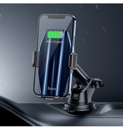 [Ready Stock] Hoco S45 Energia Smart Wireless Charging Air Vent Dashboard Car Mount Phone Holder for Samsung / Huawei / Xiaomi / Oppo / Vivo / Toyota / Honda / Mazda / Proton / Perodua, BMW / Benz Mercedes